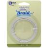 Artistic Wire - Braid 12ga Round Non-tarnish Silver 5Ft